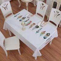 桌布防水防烫防油长方桌桌布少女心茶几桌布 餐桌布 电视台布