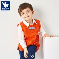 春秋韩版男宝宝针织马甲儿童毛线背心男孩马夹男童小孩小童外穿潮