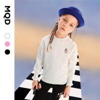 【2件3折后价:120】MQD童装女童花边领打底针织衫21秋装新款儿童甜美长袖女