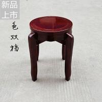 仿古艺术凳圆凳餐凳可叠加凳子实木凳子加固实木板凳饭店家用定制