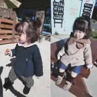 女童保暖开衫外套冬装2017新款韩版儿童长袖上衣婴幼儿休闲