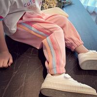 女童运动裤春装洋气小女孩束脚裤子儿童宽松休闲长裤