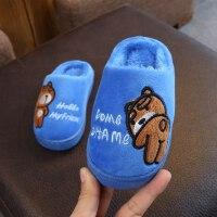 宝宝拖鞋卡通室内儿童拖鞋防滑保暖男童女童包跟小孩毛毛拖
