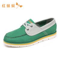 红蜻蜓男鞋运动舒适防滑潮流大气透气板鞋休闲系带低帮鞋-