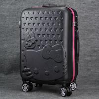 学生卡通子母箱硬托箱拉杆箱万向轮24英寸可爱旅行箱行李箱女26英寸22cun 黑色 单箱 20寸