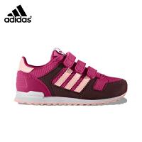 【3折�r:179.7元】阿迪�_斯(adidas)童鞋秋季新款男女童休�e�\�有��p便跑鞋BB2447�t色