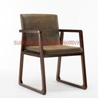 简约北欧风格实木餐椅咖啡厅书房洽谈椅子家用餐桌复古电脑沙发椅