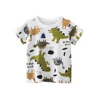 男童短袖上衣夏装女童恐龙印花薄款童装T恤