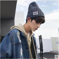帽子男冬天韩版潮毛线帽加厚套头针织帽子冬季户外保暖防寒帽青年