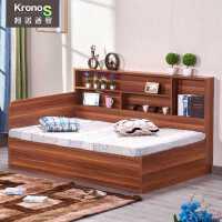 【满减优惠】收纳床储物床一米二的床省空间单人床现代简约床靠墙放的床小户型