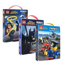 顺丰发货 乐高 进口英文原版书Lego City Phonics 36册盒装 乐高城市拼读学习故事会 学乐出版书籍绘本儿童读物