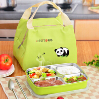 304不锈钢保温便当盒小儿童学生饭盒 微波炉分格餐盘成人食堂带盖