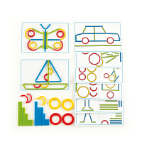 【特惠】Hape动作思维线条画3-6岁早教益智游戏儿童玩具木制E6309