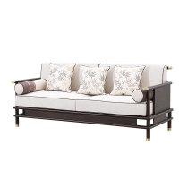 新中式全实木布艺沙发组合现代简约客厅样板房别墅轻奢家具定制 其他