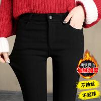 加绒打底裤女外穿小脚裤冬季2017新款韩版棉裤黑色裤子女裤魔术裤