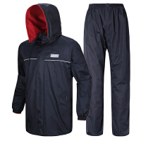 龙豹 LB899A 户外休闲套装 加厚保暖防寒双层电动车摩托车分体雨衣套装双面穿雨披