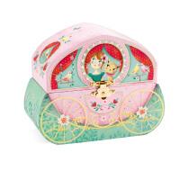 音乐盒首饰盒儿童旋转跳舞女生公主收纳八音盒女孩生日礼物