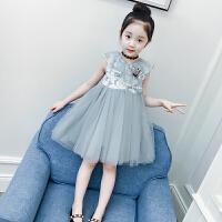 女童连衣裙夏装儿童蕾丝纱裙背心公主裙洋气女孩裙子