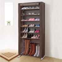 简易鞋架家用多层宿舍布鞋柜创意防尘收纳架铁艺组装经济型省空间