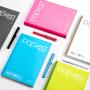 广博10本装A5笔记本子无线装订本办公用品 颜色混装GBR51000
