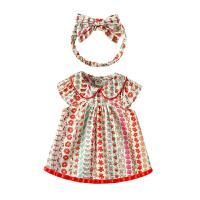 女童连衣裙夏棉短袖薄款洋气夏装婴儿公主裙夏季女宝宝裙子
