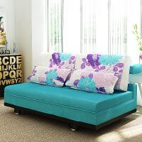 良木沙发床宜家家居布艺沙发多功能可折叠小户型沙发可拆洗旗舰