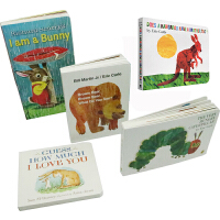 I Am a Bunny Brown Bear 英文原版 绘本纸板书启蒙 5册套装 The Very Hungry Caterpillar