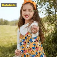 巴拉巴拉童装女童连衣裙小童宝宝公主裙秋装新款儿童两件装棉