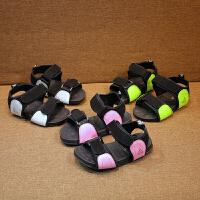 夏季女童沙滩鞋童鞋男童运动露趾凉鞋儿童中大童鞋潮