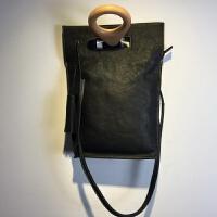 款原创手工包包托特包日式简约大包新款女包手提包单肩包 黑色