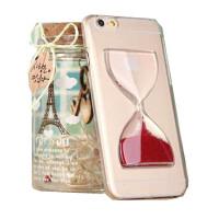 新款iphone6手机壳 苹果6流沙液体手机套 4.7透明沙漏壳日韩女