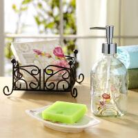 Evergreen爱屋格林美式创意家居卫浴洗手液瓶肥皂盒餐巾纸组合礼盒套装美式家居卫浴三件套