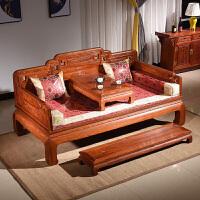 罗汉床木沙发禅意睡塌简约新中式实木家具 1.2米以下