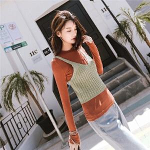 七格格港味chic短款针织小吊带背心2017新款韩版外穿时尚百搭上衣潮女潮