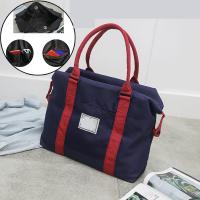 短途旅行包女韩版简约行李袋健身出差男小轻便手提大容量旅游包潮 y 尊贵蓝 蓝色 大