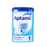【当当海外购】英国进口Aptamil爱他美 婴幼儿配方奶粉1段(0-6个月宝宝 900g)不影响食用