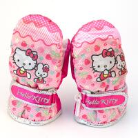 新款hello kitty包指冬季加绒滑雪手套防风防水 粉红色