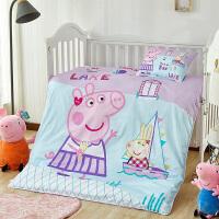 小猪佩奇儿童男女孩宝宝午睡盖被春秋棉被子枕头床单3件套