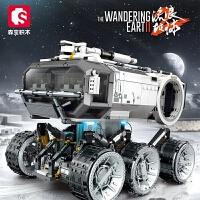 启蒙积木拼装玩具儿童智力军事模型男孩益智拼插积木5-6-8岁礼物