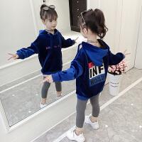 童装女童套装秋冬时髦潮衣女中大儿童韩版洋气卫衣两件套