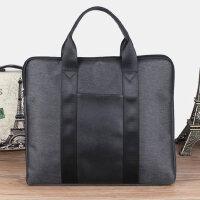 户外男包手提包 商务会议包横款男士包包休闲牛津布公文包