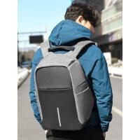 韩版旅行包潮时尚商务背包男 大容量电脑包15.6大学生书包 新款双肩包男士休闲背包