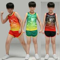 儿童田径服套装男中小学生运动比赛马拉松训练服小孩背心跑步短裤