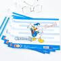 广博4本装A4儿童美术涂色涂鸦本填色书绘画本 迪士尼唐老鸭IQT14500