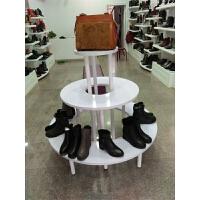 中岛展示柜圆形展柜包包鞋化妆品礼品母婴用品展示柜木质展示货架