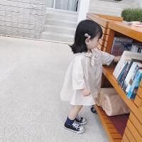女童2018夏季新款纯棉翻领薄防晒衫儿童1-3岁女孩纯色百搭空调衫