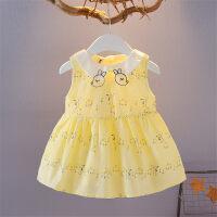 夏款童装裙子女童连衣裙婴儿公主裙0-1-2-3-4岁女宝宝背心裙子棉