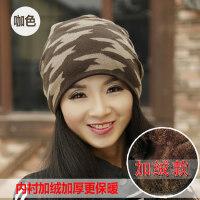 帽子女韩版潮时尚百搭简约包头保暖针织帽潮流堆堆帽毛线帽