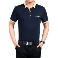 虎狼 夏季男式休闲短袖t恤 男士纯棉T恤批发 中年男装