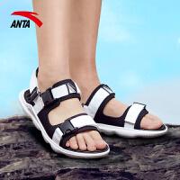 【满99-20】安踏凉鞋男户外沙滩鞋2021春季新品户外凉鞋时尚白黑款11826661